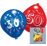 Luftballons: Zahlen-Ballon zum 50. Geburtstag, 10er-Pack - 1