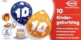 Luftballons: Zahlen-Luftballons, farblich sortiert, 6er-Pack - 1
