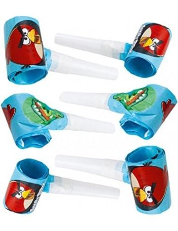 "Luftrüssel: Tröten, Motiv ""Angry Birds"", 30 cm, 6 Stück - 1"