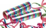 Luftschlange: bunt, metallic glänzend, 18 Streifen, 4 m, 3er-Pack - 1