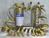 Luftschlange, goldglänzend mit Holoeffekt, 18 Streifen zu 7 mm, 4 m - 1