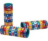 Luftschlangen mit Motiv (Stern, Eisenbahn, Fußball, Rakete), 14 mm Breite, 4 m Länge, 3er-Pack - 1
