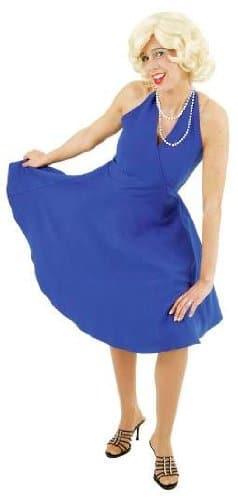 Marylinkleid blau rückenfrei - 1