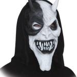 Maske: Halloween-Maske, Teufel, schwarz-weiß - 1