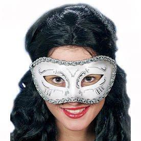 Maske: venezianische Maske Colombina, silber - 1