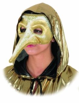 """Maske: venezianische Maske """"Venezia"""", Pestarzt-Maske, gold - 1"""