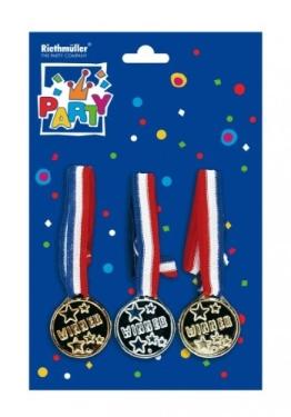 Medaillen: Gold, Silber und Bronze für Wettspiele am Kindergeburtstag - 1