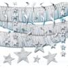 Mega-Deko-Set, silber, mit Girlanden, Sternen, Deckenhängern, Rotorspiralen, 22-teilig - 1