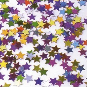 Metall-Konfetti: bunte Sterne, 11 mm, 10 g - 1