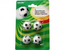 Mini-Deko-Kerzen Fussballparty 4er-Pack, Deko WM 2010 - 2
