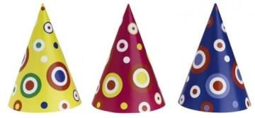 Mini-Party-Hütchen, gemischt, 14,5 cm Höhe, 10 cm Durchmesser, 50er-Karton - 1