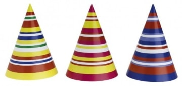 Mini-Party-Hütchen, gemischt, 14,5 cm Höhe, 10 cm Durchmesser, 50er-Karton - 2