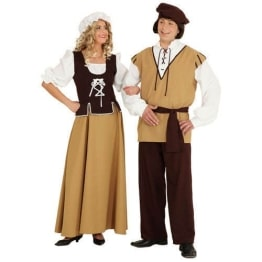 Mittelalter-Kostüm für den Knecht: Hose, Jacke und Kopfbedeckung - 1