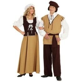 Mittelalter-Kostüm für die Magd: Kleid und Kopfbedeckung - 1