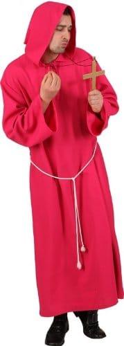 Mönch-Kostüm: Kutte, pink - 1