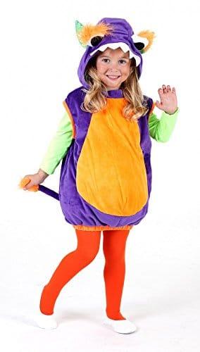 Monsterweste Spooki lila-orange für Kinder, Verkleidung Monster Kostüm - 1