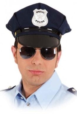 """Mütze: amerikanische Polizeimütze, """"Special Police"""", schwarz, Kopfweite 56, 58, 60 - 1"""