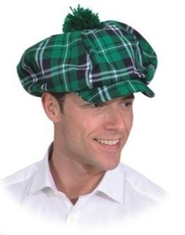 Mütze: Schottenmütze, grün kariert - 1