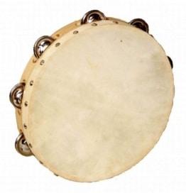 Musikinstrument: Tambourin mit Trommel - 1
