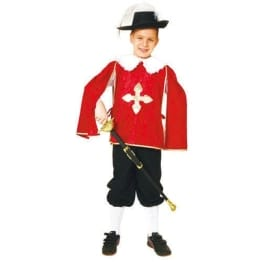 Musketier-Kostüm für Jungen in rot - 1