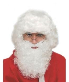 Nikolaus: Weihnachtsmann-Perücke, mittel, weiß oder matt-weiß - 1