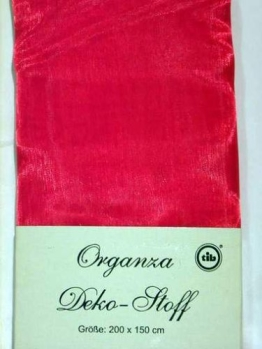 Organza-Deko-Stoff ROT, roter Stoff rote Stoffe Tischdekoration - 1