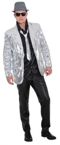 Pailletten Show Jacket silber - 1