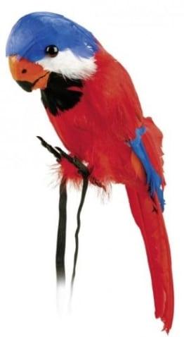 Papagei: Ara mit Federn, Deko, ca. 40 cm - 1