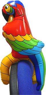 Papagei, Kunststoff, aufblasbar, ca. 25 cm - 1