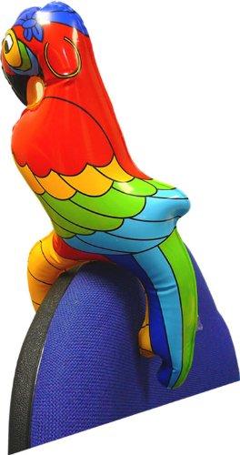 Papagei, Kunststoff, aufblasbar, ca. 25 cm - 2