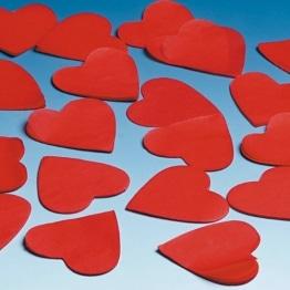 Papier-Konfetti: rote Herzen, 50 mm, 50 g-Dose - 1