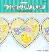 Papiergirlande, bunt mit Baby-Schriftzug, 365 cm - 1