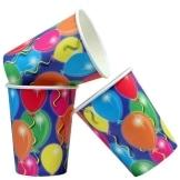 Pappbecher: Trinkbecher, Serie Balloons, 250 ml, 8er-Pack - 1