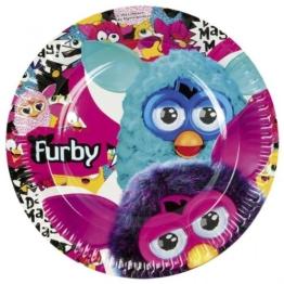 """Pappteller: Party-Teller, """"Furby"""", 23 cm, 8er-Pack - 1"""