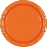 Pappteller: Party-Teller, orange, 23 cm, 8er-Pack - 1