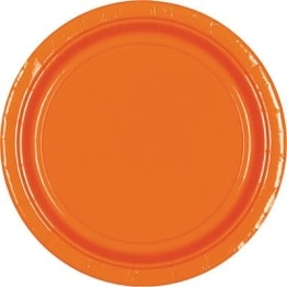 Pappteller: Party-Teller, orange, 23 cm, 8er-Pack - 1