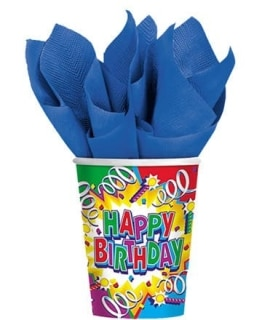 Party-Becher 'Birthday Explosion' 8er-Pack - 1