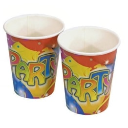 "Party-Becher: Pappbecher, ""Ballon-Party"", 250 ml, 8er-Pack - 1"