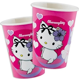 Party-Becher: Pappbecher, Charmmy Kitty mit Herzen, 250 ml, 8er-Pack - 1