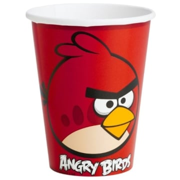 "Party-Becher: Pappbecher, Motiv ""Angry Birds"", 250 ml, 8 Stück - 1"