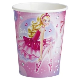 "Party-Becher: Pappbecher, Motiv ""Barbie Pink Shoes"", 250 ml, 8 Stück - 1"