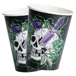 "Party-Becher: Pappbecher, Motiv ""gruselige Totenkopf-Party"", 250 ml, 8 Stück - 1"