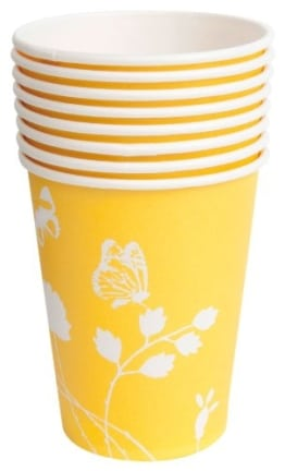 "Party-Becher: Pappbecher, Sommermotiv ""Daisy"", gelb, 250 ml, 8er-Pack - 1"