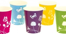 "Party-Becher: Pappbecher, Sommermotiv ""Daisy"", pink, 250 ml, 8er-Pack - 2"