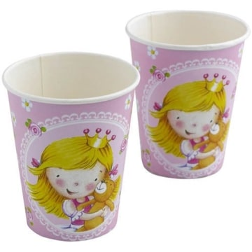"""Party-Becher: Pappteller, """"kleine Prinzessin"""", 250 ml, 8er-Pack - 1"""