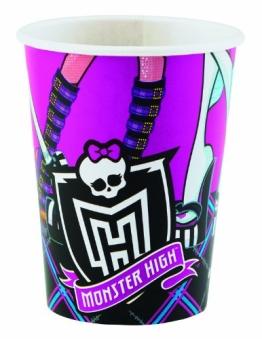 Party-Becher: Trinkbecher, Monster High, 250 ml, 8er-Pack - 1