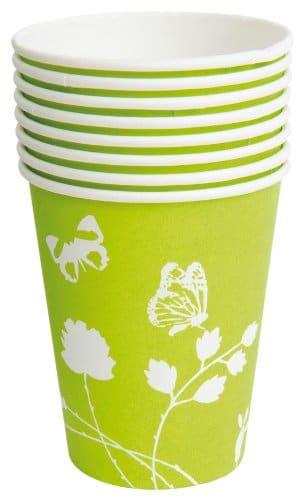 Party-Becher: Trinkbecher, Sommermotiv Daisy, grün, 250 ml, 8 Stück - 1