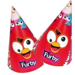 """Party-Hütchen, Motiv """"Furby"""", 6 Stück - 1"""
