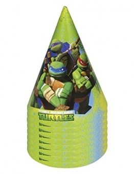 "Party-Hütchen, Motiv ""Teenage Mutant Ninja Turtles"", 6 Stück - 1"