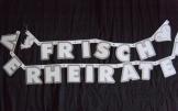 """Party-Kette: Buchstabengirlande, """"Frisch verheiratet"""", 270 cm lang - 1"""